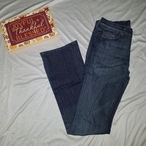 7FAM 7 For all Mankind dark wash jeans 27